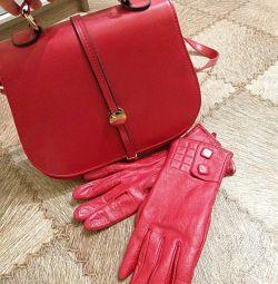 Handbag and gloves
