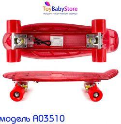 Скейтборд Пенни борд детский новый с подсветкой