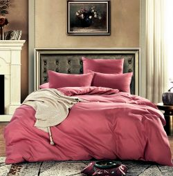 Bed linen monophonic satin