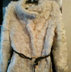 ,, Σύντομη γούνα παλτό νέο, μέγεθος $