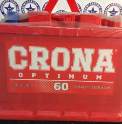 Аккумулятор автомобильный CRONA 60 Ah 500 A новый