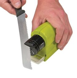 Electric sharpener for knives, scissors