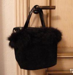 Suede female bag