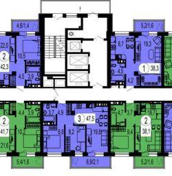 Apartament, 2 camere, 58,1 m²