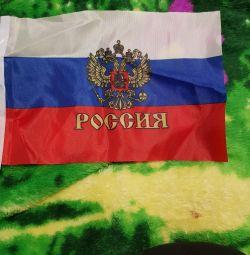 Флажки маленькие Россия с гербом