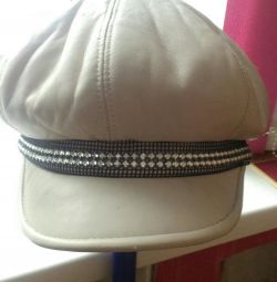 Cap, genuine leather, winter p56