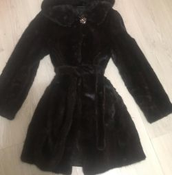 One-piece mink coat