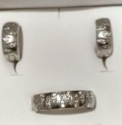 Ringlet + cercei de argint