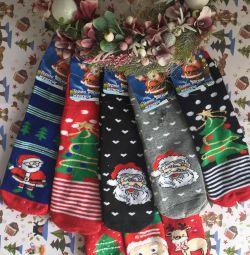 Термоноски новогодние. Новогодние носочки