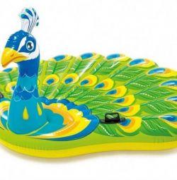 Peacock Airbed 193х163х94 cm, 57250
