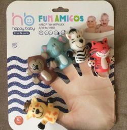 Banyo için küçük hayvanları parmak