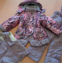 winter jumpsuit with a vest