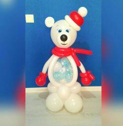 Об'ємні фігури з повітряних кульок від 199р