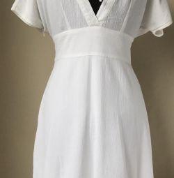 Новое белое пляжное свадебное платье