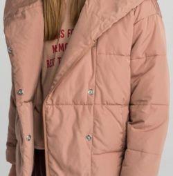 Kapüşonlu hacimli büyük boy ceket