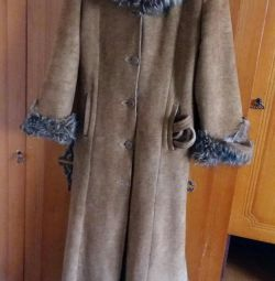 Winter sheepskin coat