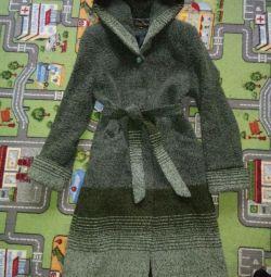 Женское Пальто- халат букле теплое(44)