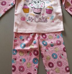 Pajamas. New. For 3-4 years.
