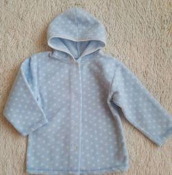 Μπουφάν fleece 92-98 με κουκούλα.