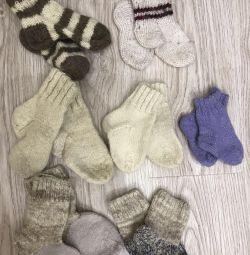 11 çift örgü çorap, 20-27 beden