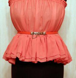 New chiffon skirt top. size 42-44