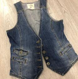 Vestă de jeans