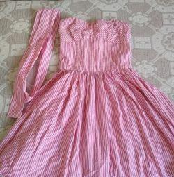Платье без лямок р-р S