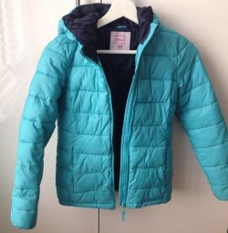 Light overcoat for girls, color turquoise. p.146