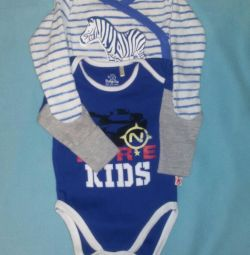 A set of 2 bodysuits with a long sleeve for a boy 62 r.
