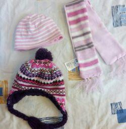 Шапки 62-68 разм, шарф