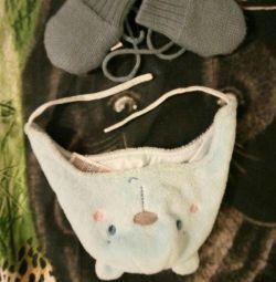 Шапка mothercare 6міс, рукавиці reima