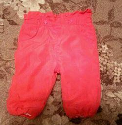 Pantaloni pentru fiecare fată (62 cm, 4-6 luni)