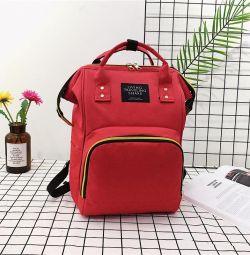 Çanta - anneler için kadın sırt çantası Kırmızı, yeni