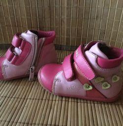 Черевики-кросівки, шкіра, по стельке13 см