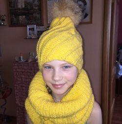 Шапки с шарфом
