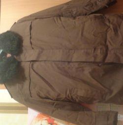 Куртка утепленная мехом из овчины новая