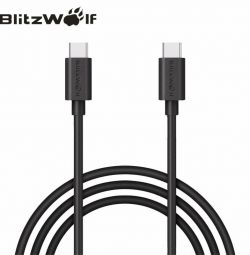 USB type C cable at both ends
