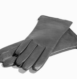 Γάντια νέων γυναικών, φυσικό δέρμα.