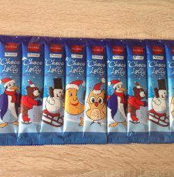 Польські шоколадні цукерки на паличці