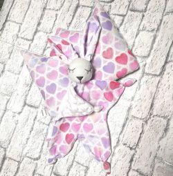 Çocuk seti (tavşan konforu ve yastığı)