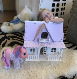Doll house from Russian birch