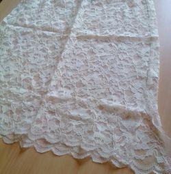 Skirt for guipure