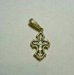 Σταυρός Vladimir Mikhailov ασήμι 925 επιχρύσωση