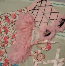 Dress-body + booties + stockings + bandage