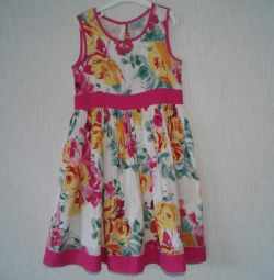 Cotton dress with lining size 122