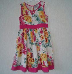 Βαμβακερό φόρεμα με μέγεθος επένδυσης 122