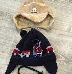 Hat for a boy, 2 pcs.