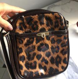 Lacquered handbag
