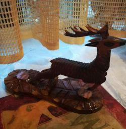 Wooden figurine of a deer from the time of the USSR