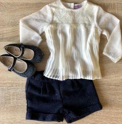 Bluză și pantaloni scurți dimensiunea 74/80